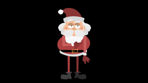 Santa Claus Animation Element 12 - points right CG動画素材