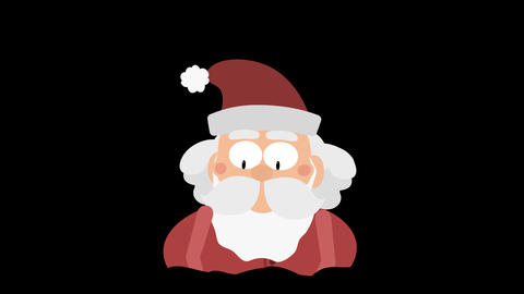 Santa Claus Animation Element 19 - stuck in (a chimney) CG動画素材