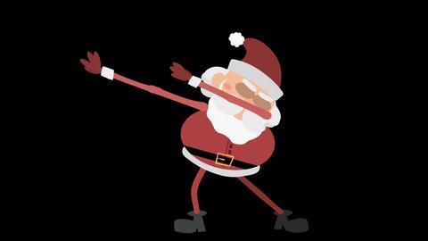 Santa Claus Animation Element 9 - dabbing CG動画素材