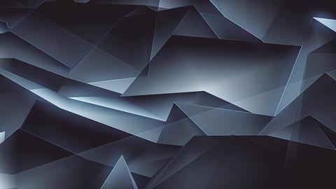 Dark Glowing Polygons Background Loop Animation