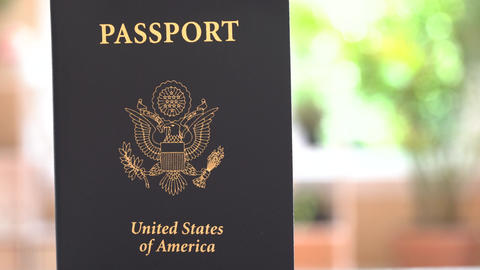 USA Passport coming into view GIF