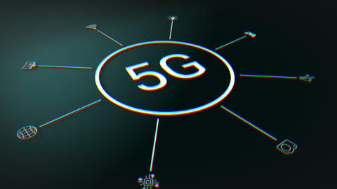 5G Internet Infographic Animation
