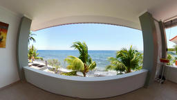 Hotel view in a tropical resort vr360 Footage