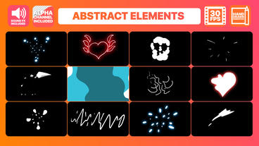 Flash FX Abstract Elements Premiere Pro Template