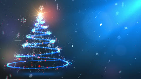 Twirling Particles Magical Christmas Tree Twirling Particles Magical Christmas Animation