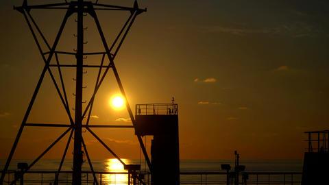Ferry at sunset ビデオ