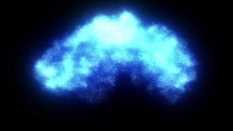 Explosion blue Animation