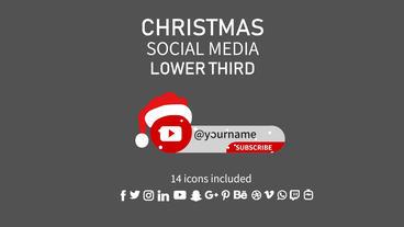 Christmas Social Media Lower Third Motion Graphics Template