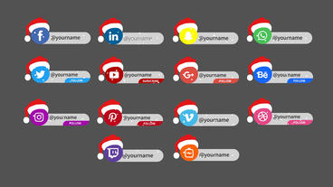 Christmas Social Media Lower Third Motion Graphics Template