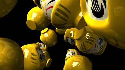 Yellow Daruma Dolls