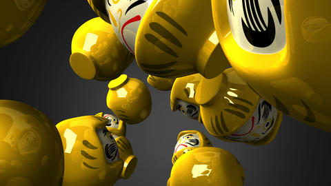 Yellow Daruma Dolls 2