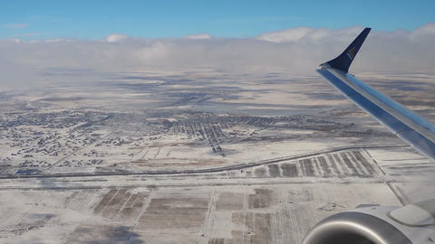 Airplane taking off from Astana International Airport Footage