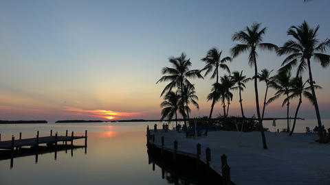 Romantic bay in the Keys of Florida after sunset Footage