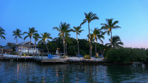 A beautiful bay in the Florida Keys - evening view Footage