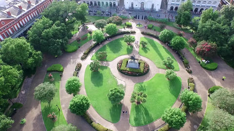 Aerial view of Jackson Square to downtown New Orleans Footage