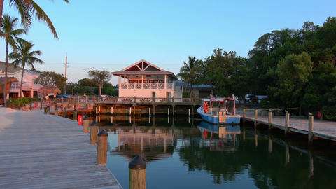 Beautiful little bay in the Florida Keys Live Action