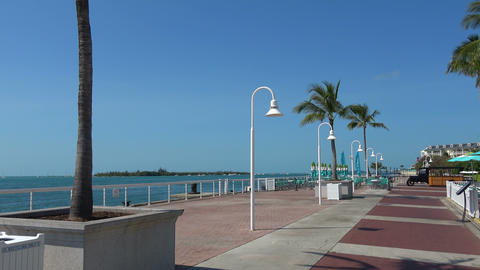 Beautiful Pier At Key West On A Sunny Day stock footage