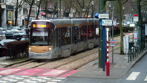 Brussels, Belgium - Tramway, the Brussels tram network system Footage