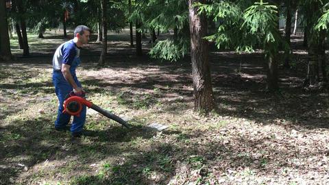 Man working. Gardener Footage
