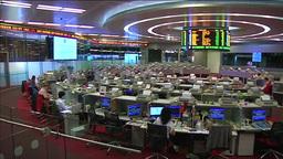HONG KONG STOCK EXCHANGE TRADING FLOOR MARKET OPENING BELL RINGING Footage