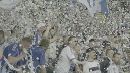 Football On Olimpiyskiy Fans Slow Motion