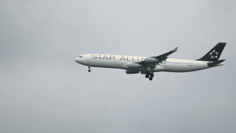 Airbus A340 with Star Alliance livery approaching Archivo
