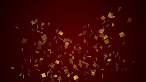 Confetti gold Festive party cracker Animation