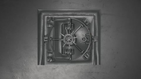 Bank Vault And Opening Safe with alpha chanel Animation