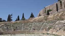Greece Athens Theatre of Dionysus Eleuthereus at Acropolis hillside GIF