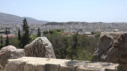 Greece Athens panorama view to the capital city from Acropolis Hill GIF