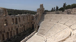Greece Athens tribune in the theater Odeon of Herodes Atticus GIF
