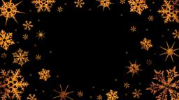 Burning snowflakes rotate on a transparent background. Video with alpha channel. CG動画素材