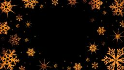 Burning snowflakes rotate on a transparent background.... Stock Video Footage