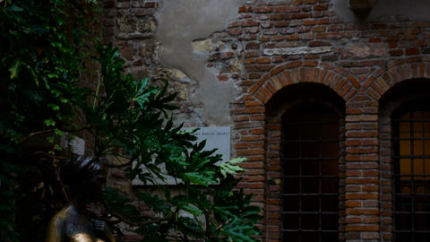 Juliet balcony in Verona, symbol of love and romance, ideal to represent the Footage