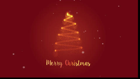 Shiny Christmas tree particle with Marry Christmas text reveal After Effects Template