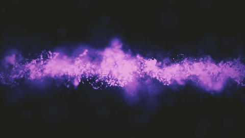 Background purple movement. Universe gold dust with stars on black background Footage