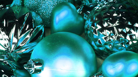 Christmas ornaments bauble baubles glass ball balls decor decorations ornament Footage