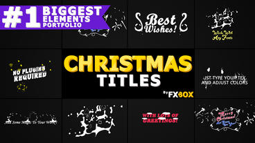Christmas Titles And Transitions After Effects Template