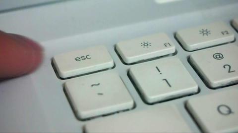 Finger Typing Esc Key Live Action