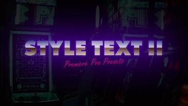 Style Text II Premiere Pro Preset