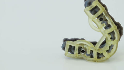 Printed template with sleeves for directed dental implantation Footage