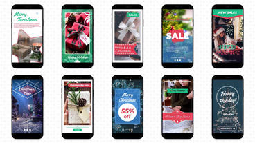 Christmas Instagram Stories Motion Graphics Template