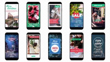 Christmas Instagram Stories モーショングラフィックステンプレート