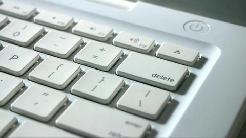 Finger Typing Delete Key Live Action