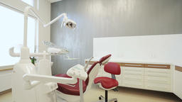 Workplace of dentist with dental unit and chair Live Action