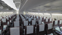 Jet airplane economy class interior view Footage
