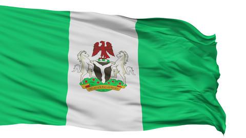 Abuja City Isolated Waving Flag Animation