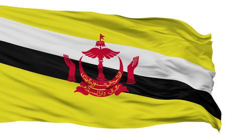 Bandar Seri Begawan City Isolated Waving Flag Animation