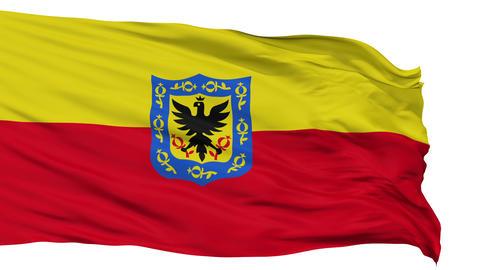 Bogota City Isolated Waving Flag Animation