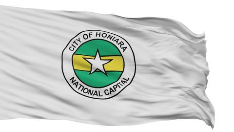 Honiara City Isolated Waving Flag Animation